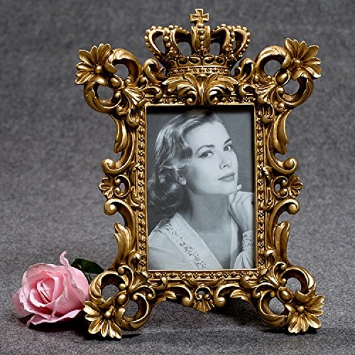 K&C lujo barroco corona modelo en relieve de oro Marco para la decoración del hogar retro