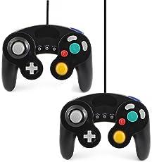 QUMOX 2x wired classic controller joypad gamepad für nintendo gamecube gc & Wii schwarz ( Turbo Slow Funktion )