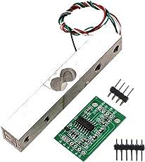 Homyl Wägesensor, Kleinbereich Wägedrucksensor Mit HX711AD Modul Wägezelle - Silber + Grün 10kg