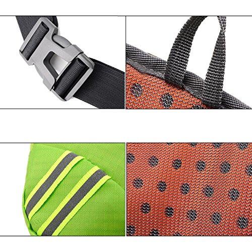 TOAOB Hüfttasche Multi-Function Gürteltasche Wasserabweisende Bauchtasche Flache Taille Tasche mit Flaschenhalter zum Sport und Reisen Balu