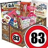 Geburtstags Geschenk Papa ++ Suessigkeiten Korb ++ Ostalgie Set ++ Zahl 83