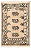 CarpetVista Pakistan Buchara 2ply Teppich 62x96 Orientalischer Teppich