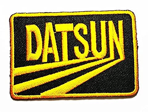 DATSUN Nissan Vintage Motorsport Car Racing Sport logo Patch Embroidered Iron on Hat Jacket Hoodie Backpack Ideal for Gift/ 7.3cm(w) X 5cm(h) by Nissan