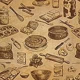 Vintage Vliestapete Kochen - 8005001a