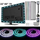 LED TV Hintergrundbeleuchtung,SOLMORE Fernseher Leiste LED Band Beleuchtung pc led streifen Licht mit Fernbedienung USB Powered für TV-Bildschirm und PC-Monitor Aquarium Dekoration 4*50cm 2M lang 5050RGB