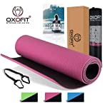 OxOFit All Purpose Premium Yoga Mat for Men & Women|High Quality Anti-Tear Sustainable TPE Material|For Yoga, Meditation...