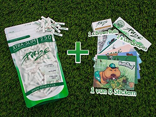 PURIZE® Xtra Slim Size Aktivkohlefilter Set (250er Spezial Set) -
