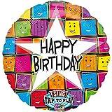 Folienballon SINGEND FOLIENBALLON - HAPPY BIRTHDAY GESICHTER XXL 70cm, Luftballon zum Geburtstag + PORTOFREI mgl + Geschenkkarten Set + Helium & Ballongas geeignet. High Quality Premium Ballons vom Luftballonprofi & deutschen Heliumballon Experten. Luftballon Geschenke zum Geburtstag und lustige Deko Geburtstag