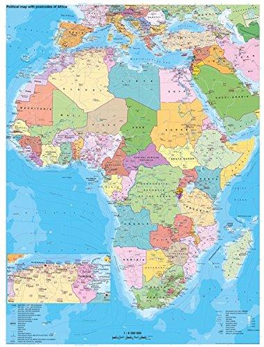Afrika politisch mit Postleitbereichen