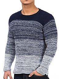 Pullover Herren Strickpullover Winter Strick Strickjacke Carisma CRSM Longsleeve Clubwear Langarm Shirt Sweatshirt Hemd Pulli Kosmo Japan Style Fit Look