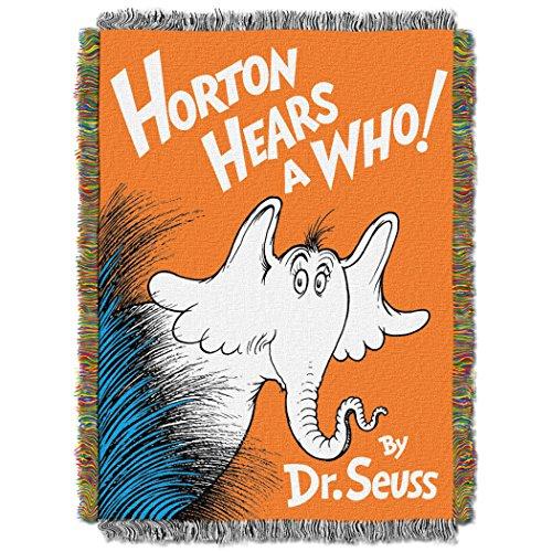 Northwest Dr. Seuss,HORTON HÖRT EIN 121,9x 152,4cm gewebte Überwurf–von The Company