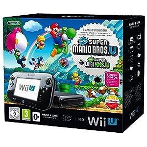 Wii U Mario + Luigi Premium Pack, black