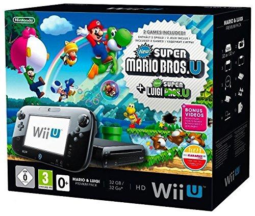 Console Nintendo Wii U 32 Go noire + Mario & Luigi – premium pack