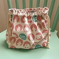 Preisvergleich für Yudanwin Leinwand-Lunch-Tasche Cartoon süße Katze Kordelzug Lunchpaket Insulation Pack (Eisbär)