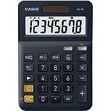 CASIO Skrivbordsräknare MS-8E, 8-siffror, valutomräkning, gummifötter, snabbkorrigeringsknapp, sol-/batteridrift