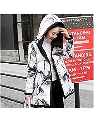 Mädchen Damen Frauen Winterfeste Winter Bekleidung Jacke Mantel Warme Leichte Dünne Wärmehaltung Steppjacke Daunenjacke Zwei Seiten Tragen shuimo Streifen Down Coat