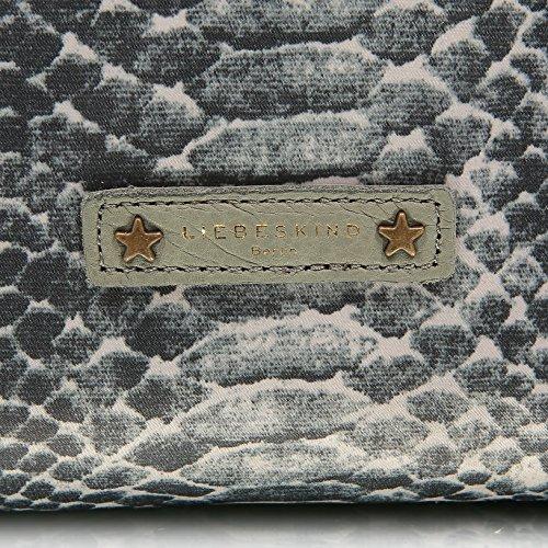 Liebeskind Berlin Amanda printed nylon Damen Henkeltasche, 45 x 43 x 17 cm (B x H x T) grey