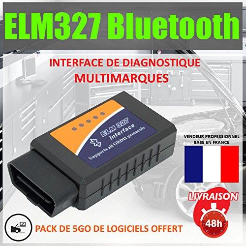 Mister Diagnostic® ★ ELM327 BLUETOOTH ★ Valise outil diagnostic multimarques - Scanner automobile