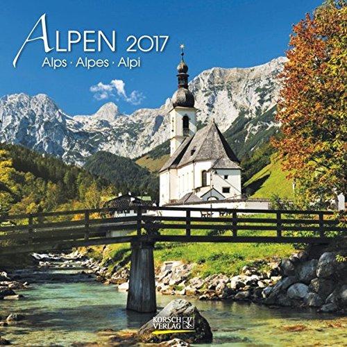 Alpen 2017. Broschürenkalender: Broschürenkalender mit Ferienterminen