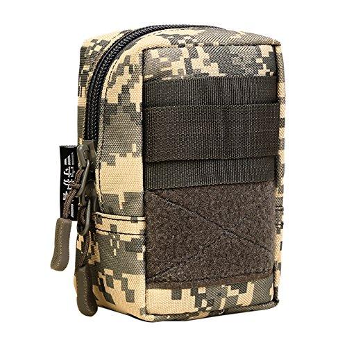 Shiningup wasserdichte Outdoor Taille Tasche 1000D Multifunktions EDC Molle Werkzeug Reißverschluss Taille Pack Zubehör Durable Gürteltasche (Farbe 2) - - Multi-sport Gps-pack