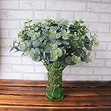 huichang Unechte Pflanzen, 1 Strauß Künstliche Pflanzen Blütenkopf und Blütenknospe zur Dekoration Haus Garten Party Blumenschmuck (Orange)