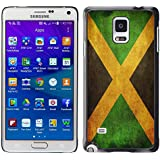 Graphic4You Jamaica bandera jamaicana Carcasa Funda Rigida para Samsung Galaxy Note 4