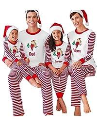 FastDirect Conjunto Pijamas Navidad Familia con Dos Piezas Top Manga Larga  Pantalones Ropa de Dormir 2573d960ec8c