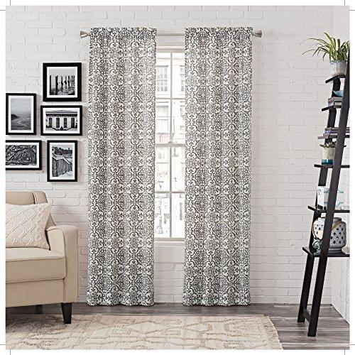 Paar to go Brockwell Fenster Vorhang Set, baumwolle, anthrazit, 56 x 63