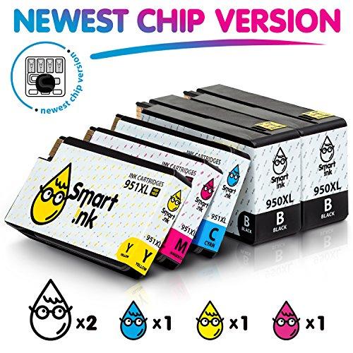 Smart Ink Kompatibel Druckerpatronen für HP 950XL 951XL 950 XL 951 XL 5 Multipack (2BK & C/M/Y) Patrone hoher Kapazität für HP Officejet 8100 8600 8610 8620 8630 8640 8660 8615 8625 251DW 276DW