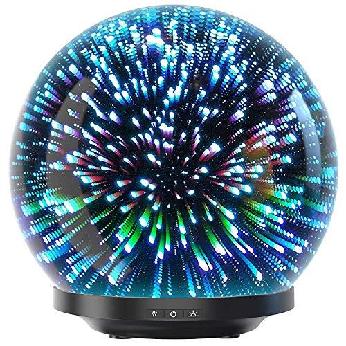 Hotel Akzent (Aroma Diffuser 200ml Likemylux Luftbefeuchter Duftlampe Oil Düfte Humidifier LED mit 7 Farben für Yoga Salon Spa Wohn-, Schlaf-, Bade-, Kinderzimmer Hotel)