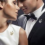 TseenYi Broche de diamantes de imitación de moda con mini corona de cristal de collar pin de peto para ropa, regalos de joyer