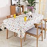 HM&DX PVC Tischdecken Wasserdicht Ölfreie Anti-heiß Schmutzabweisend Tischtuch schutzfolie folie Einfache dekorationen Kaffee tisch verkleidung-F 110x160cm(43x63inch)