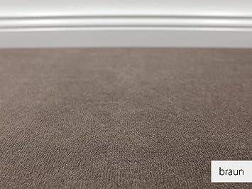 Auslegware  Teppichboden Auslegware Vorwerk Bijou UNI Braun 500 x 600 cm 19,80 ...