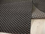 In & Outdoor Teppich Flachgewebe Natur Panama Dunkelbraun Bordüre in 3 Größen