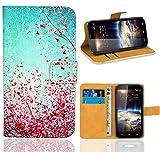 Vodafone Smart 4 Power Handy Tasche, FoneExpert Wallet Case Flip Cover Hüllen Etui Ledertasche Lederhülle Premium Schutzhülle für Vodafone Smart 4 Power