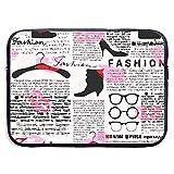 Mode-Elemente Küsse Lippenstift Brille Schuhe Kleiderbügel 13-10 Zoll Laptop Sleeve Bag - Tablet...