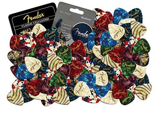 fender-plettri-per-chitarra-in-celluloide-12-pezzi-effetto-perlato-colori-misti-thin-mixed-pearl