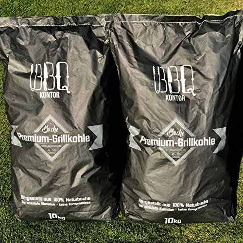 Bbqkontor 20kg 2x10kg Premium Buchenholzkohle 100 Naturbuche Grillkohle Holzkohle Buche Buchengrillholzkohle In Steakhausqualitt