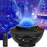LED Sternenhimmel Projektor, Sternenlicht Projektor für Starry Stern Wasserwellen-Welleneffekt Sternenhimmel Nachtlicht mit B