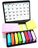 Libetui Mega Set bunte Haftnotizen farbige Haftstreifen Notizzettel Sticky Notes Pagermarker Bürobedarf Haushalt selbstklebende 2000 Blatt