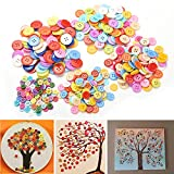 Welecom(TM) 100 Pcs Plastic Round Buttons Sewing DIY Craft Decals for Kids Crafts, 9mm