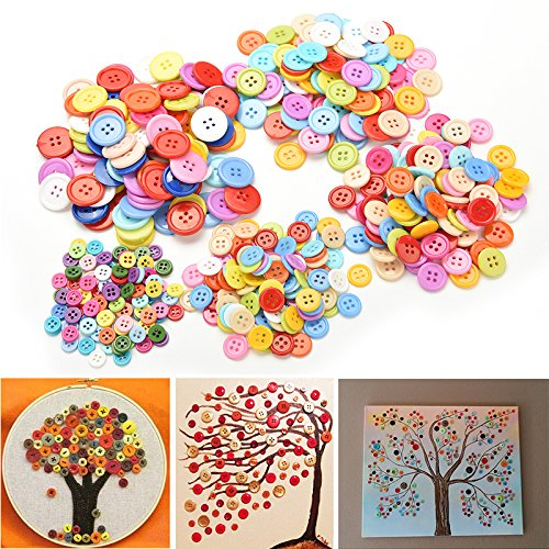 welecomtm-100-pcs-plastic-round-buttons-sewing-diy-craft-decals-for-kids-crafts-9mm