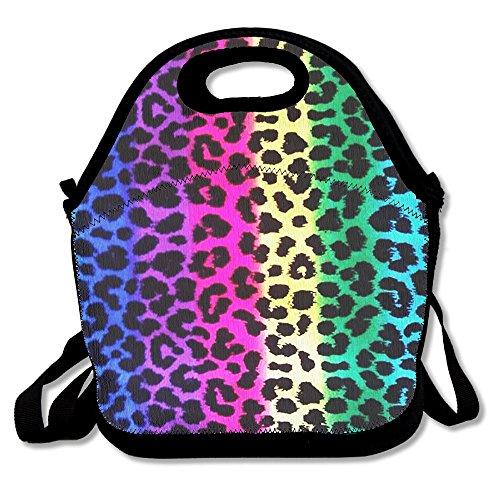 Lunch Tote Leopard Print Muster Lunch-Boxen Lunchpaket Handtasche Lebensmittel Aufbewahrung passend für Schule Reisen Arbeit Outdoor (Print Tote Leopard)