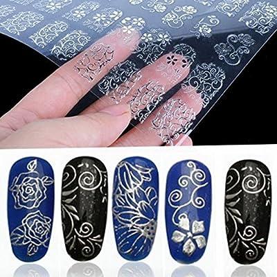 COFCO 3D-Blumen-Aufkleber für Fingernägel