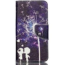 Guran® Pintado Funda de Cuero Para Acer Liquid Z330 Smartphone Tirón de la Cubierta de la Función de Ranura Tarjetas y Efectivo Caso-amor