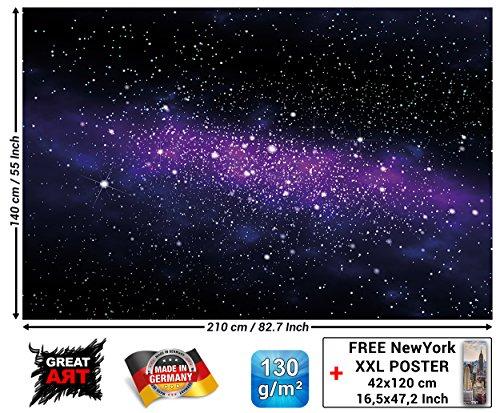 Fotomurales stelle - decorazioni pareti stanza dei bambini spazio interplanetario stelle galassia cielo cielo stellato universo spazio cosmoi fotomurales by great art (210 x 140 cm)