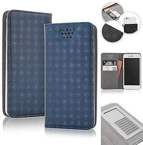 Bralexx universelle Bookstyle-Tasche Hülle Case Cover 2x Kartenfach, 1x Geldfach,
