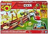 Hasbro - Angry Birds Go Telepods, Pista da Corsa Pig Rock - Da 2 giocatori - Funziona con molteplici piattaforme e dispositivi mobili. - Teletrasporta go-kart nell'app. - 2 modalità di gioco