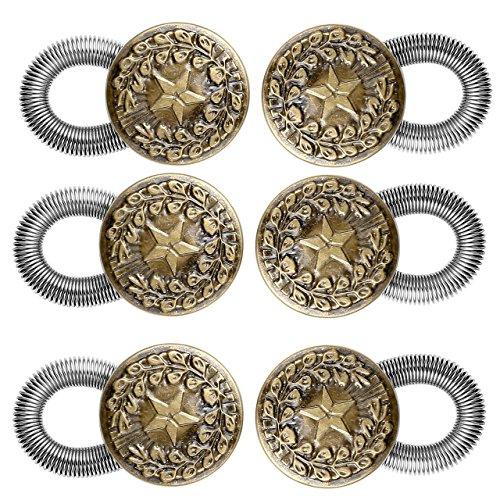 Faleto 2x Wunderknöpfe Hosenknopfverlängerung Hosenbunderweiterung Wunder Button Extender Bunderweiterung Erweiterung für Hosen Jeans Röcke (Set 03, #03*3)