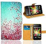 Wiko Bloom Handy Tasche, FoneExpert Wallet Case Flip Cover Hüllen Etui Ledertasche Lederhülle Premium Schutzhülle für Wiko Bloom